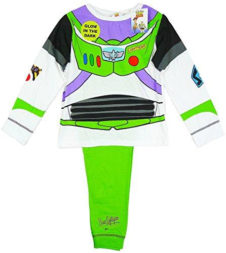 Jungen Toy Story Buzz Lightyear Kostüm Schlafanzüge Leuchten im Dunklen größen von 18 Monate bis 6 Jahre - Jungen, Weiß, EU (Disney Kostüme Buzz Lightyear)