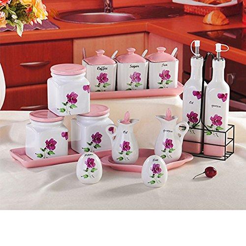 Keramik Gewürz Jar kreative Menage [Gewürz-Box] Öl Salz Zucker the Spice Box Spice Box-Set-U -