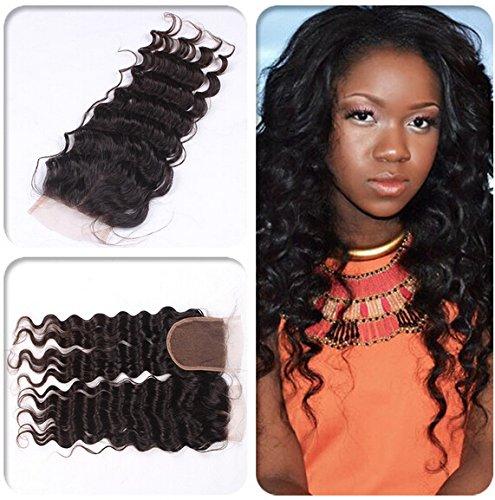 Romantic Angels®100% Brésilien Extensions de Cheveux Humains Cheveux bouclé Lace Closure (4\\