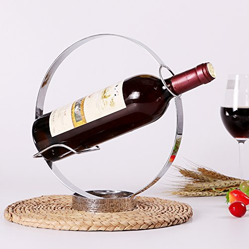 Xuanku Kreative Inneneinrichtungsgegenstände Wein Rack Kabinett Dekor Dekoration Handwerk Europäischen Weinflasche Flasche Wein Rack Overhead -,Runde Wein Rack -