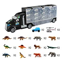 AKDSteel Animal Dinosaur Transport Vehicle Double-Sided Trailer Gift Toys for Children