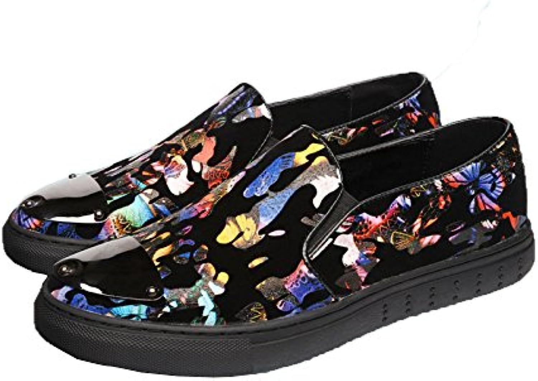 LQV Männer Neue Freizeitschuhe Mode Trend Schuhe Runden Kopf Niedrig Hilfe Tarnung Jugend Komfortable Rutschfeste