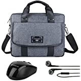 "Vangoddy Chrono Grey Compact Tote Messenger Bag Briefcase For Microsoft Surface Book | Surface Pro Series 12"" 13.5"" + Wireless Mouse + Headphone"