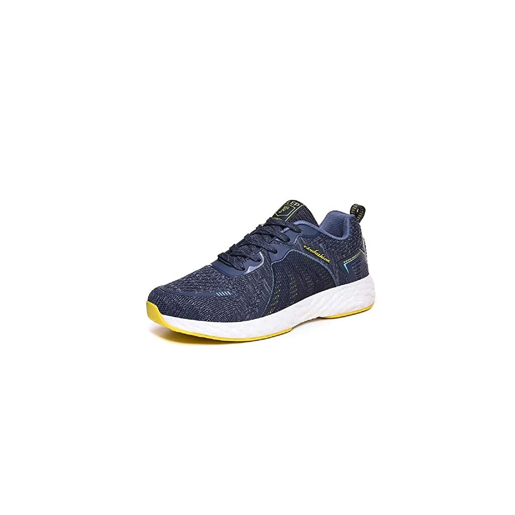 LMGSX Stability Running Shoes,Spring Flying Woven High-Elastic Lace-Up Sneakers, Lightweight Cushioning and Comfortable Running Shoes – Blue, 7.5 UK
