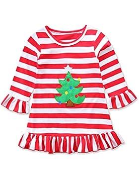 ❤️Kobay Happy Thanksgiving Kleinkind Baby Girl Türkei Print Kleid Streifen Sundress Outfit