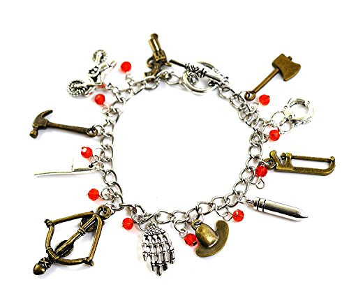 Charm-Armband,The Walking Dead,Zombie-Anhänger mit Beil, Armbrust, Pistole und -
