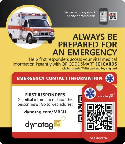 dynotag-internet-enabled-qr-code-smart-emergency-contact-info-card-kit-2-cards