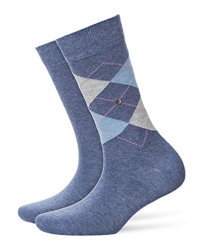 Burlington Damen Everyday Argyle-muster Und Unifarben 2 Paar Socken Mix, blau (light denim 6660), 36/41 (Herstellergröße: 36-41) (erPack 2