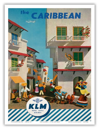royal-dutch-airlines-klm-the-caribbean-vintage-airline-travel-poster-by-jf-van-der-leeuw-c1960s-bon-