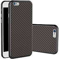 DolDer CarbonSeries Cover - Case - Schutzhülle für Apple iPhone 6s/6 Carbon black + PC Bumper, mit Metall inside, schwarz