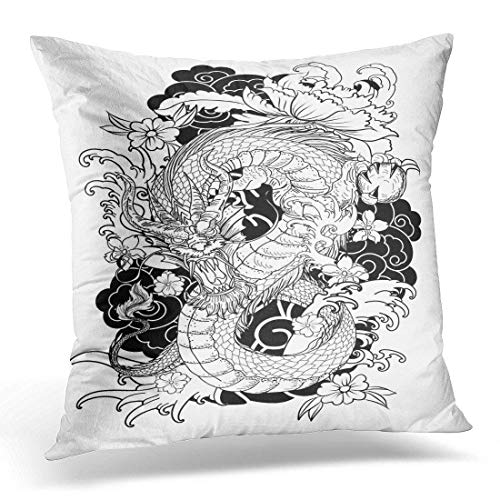 dfegyfr Modern Funky Arrow Chevron Stripes Black Grey Blue Zigzag Decorative Pillow Case Home Decor Square 18 x 18 Inch Pillowcase -