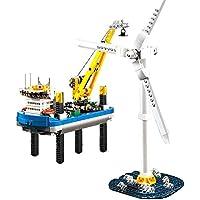 37002 Custom Bausteine Windpark Borkum Riffgrund inkl. Windrad, 599 Teile