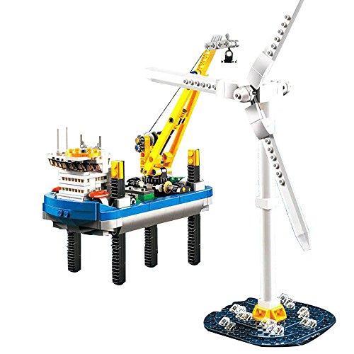 37002 Custom Bausteine Windpark Borkum Riffgrund inkl. Windrad, 599 Teile thumbnail