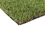 Golden Moon Kunstrasen-Teppich realistischer grün dekorativer Synthetik Kunstrasen Turf Bereich Teppich Florhöhe 25mm Höhe 0.91mx1.52m, Polypropylen, 10cmx10cm Sample