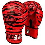 ZooBoo - Guantes de boxeo para mujer y principiantes, Kickboxing, Muay Thai o Sparring, promedio OZ, peso ligero y duradero, Para toda la temporada, mujer, color rojo, tamaño 8-10 OZ