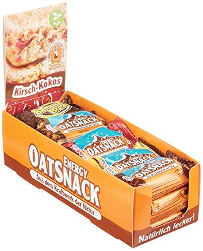 Energy OatSnack, natürliche Riegel - von Hand gemacht, MixBox Top Flavors 3 x 70 g und 12 x 65 g, 1er Pack (1 x 990g)