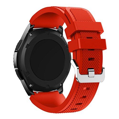Der Silikonriemen Kompatibel für Samsung Gear S3 Frontier,Kaiki Neue Art- und Weisesport-Silikon-Armband-Bügel-Band für Samsung Gear S3 Frontier (Red)