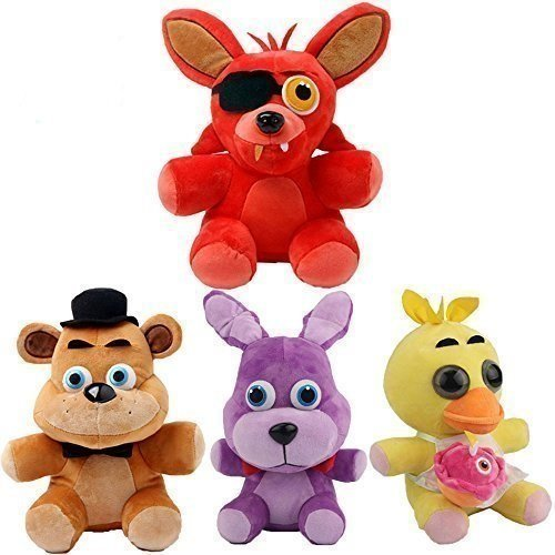 Five Nights At Freddys - Set of 4 Chica, Bonnie, Foxy, Freddy - Mini baby sized - 25cm 10""
