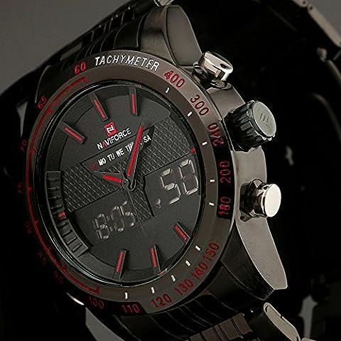 Fenkoo Herren Armbanduhr Japanischer Quartz LED / LCD / Kalender