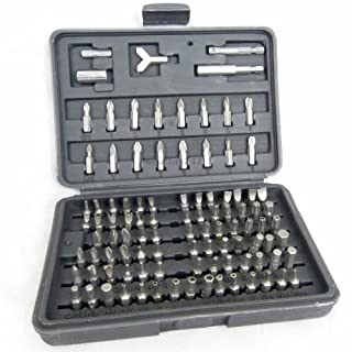 Security Bit Set 100pc Assorted Screwdriver Socket Bit Set Includes Torx, Star, Slotted, Security Bits and More, Made From Chrome Vanadium, Home Security Bit Set