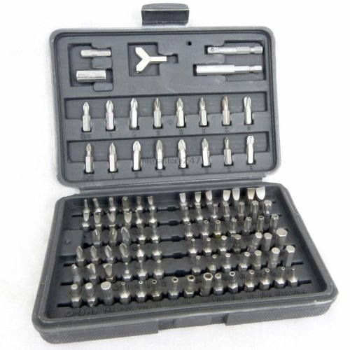 Sicherheit Schraubendreher Bit Set Torx Schraube Phillips Pozidriv®-Bits aus Chrom-Vanadium Stahl 100 pc