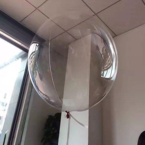 Globo de burbujas redondo transparente con globos de látex para boda, fiesta de cumpleaños 40x44cm transparente