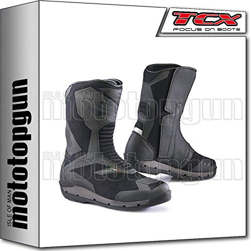 TCX Scarpe Stivali Moto 7138G Clima Surround Gore-Tex Nero tg 43/9