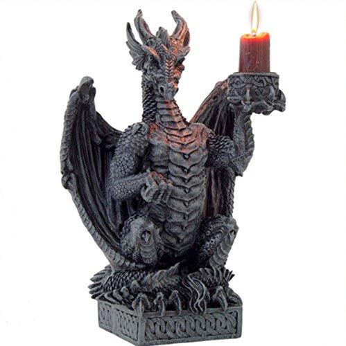 Preisvergleich Produktbild Dark Dreams Gothic Mittelalter Fantasy Kerzenhalter Kerzenständer Drache Dragon