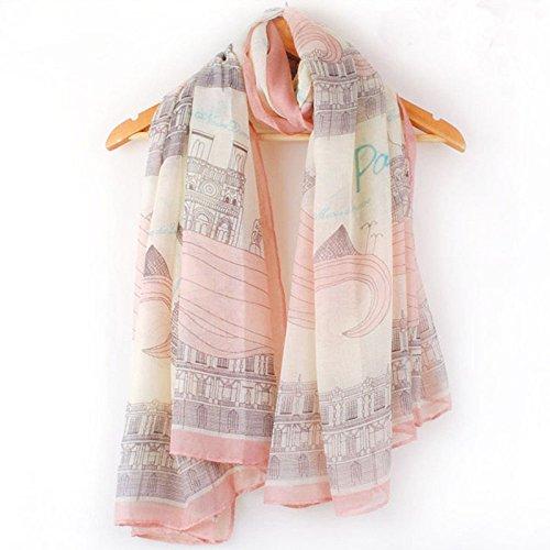 Emorias 1 Pcs Damen-Fleid Balinesische Wolle Dünn Eiffelturm Schal Frühling und Herbst weich Schal Accessoires Kleid -