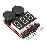 Tester Voltimetro con Alarma Digital Tension de Baterias Li-Po LIPO 1S-8S y TABLET 4228