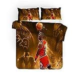 CHAOSE Ensemble De Housse De Couette Basketball Michael Jordan Ensemble De Literie pour Enfants, Taille Unique, Dessin Animé...
