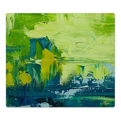 DekoGlas Herdabdeckplatte inkl. Noppen 'Pinselstriche', gehärtetes Glas, Herd Ceranfeld Abdeckung, einteilig universal 52x60 cm - Moderne öl-malerei