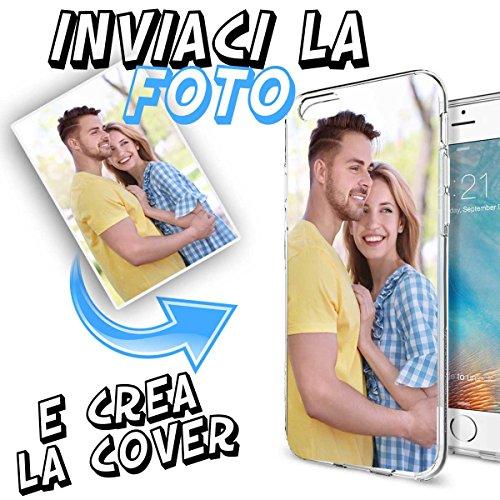 INKOVER Cover Custodia Personalizzata con Foto o Scritta a Piacere per iPhone 7 & 8 Protettiva Guscio Soft Case Bumper Trasparente Sottile Slim Fit TPU Gel Morbida Apple iPhone 7 & 8