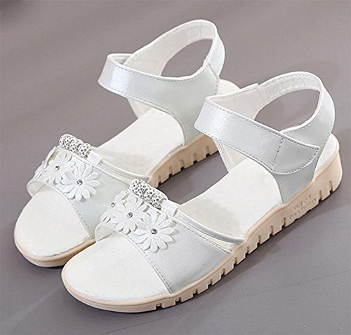 Sommer Sandalen weibliche Studenten-WG mit lässig offenen Schuhen, Sandalen White