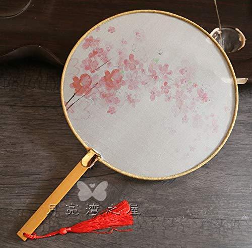 Dekoartikel Sammlerstücke Klassischer Palast-Silk Durchscheinender Fan, Nachgemachtes Altes Kostüm, Tanz-Fan, Chinesischer Art, Chinesische Kleidung, Runder Fan., Lotus Pink Cherry Blossoms