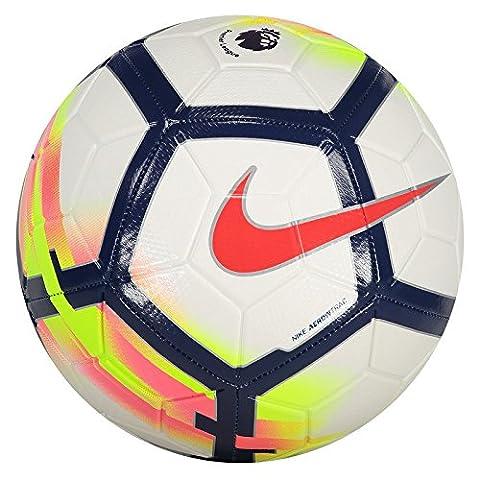 NIKE STRIKE PL FOOTBALL - SIZE 5, WHITE/CRIMSON/ROYAL