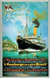 Blechschild Nostalgieschild Hamburg Süd Postdampfer Reederei Plakat