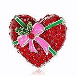 Defect Broche Amor Conjunto Broche de Diamante de San Valentín Regalo Moda Hermosa Amor Pin Broche 2 Pieza Conjuntos
