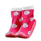 Kinder Haussocken Socken mit Gummisohle pink Shell OB-002 Gr. 22