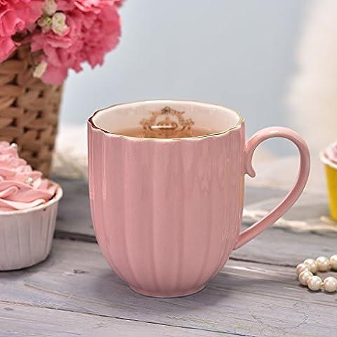 DZXYA Ensemble de 4 tasses à café Continental créatif Bureau juridique de la tasse en céramique couples minimaliste lait tasse 320ML,petit-déjeuner