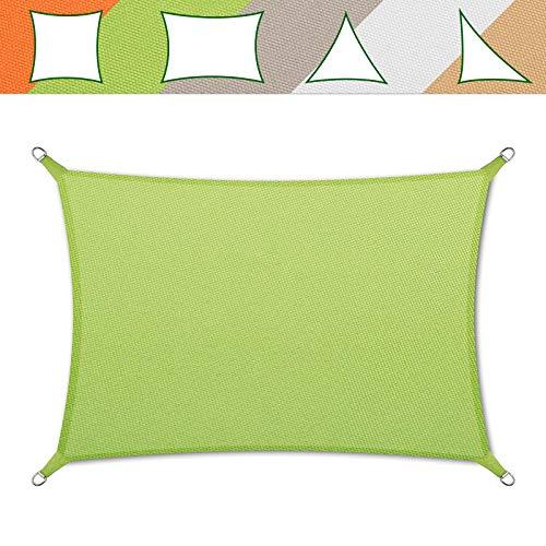 casa pura® Sonnensegel wasserabweisend imprägniert | Testnote 1.4 | Rechteck | UV Schutz Größen (grün, 5x7m)