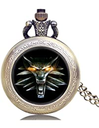 ShopyStore New Roaring Lion Full Hunter Necklace Vintage Floating Glass Men Gift Game Of Thrones Coo