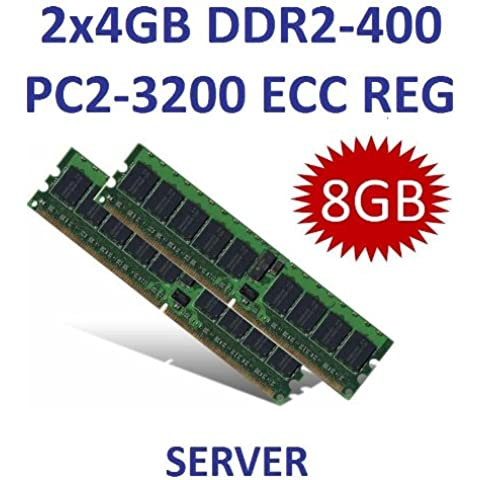 Dual Channel kit: 2 x 4 GB 8 GB 240 pin DDR2-400 ECC=Registered DIMM (400 (Ddr2 Pc2 3200 Dual Channel)