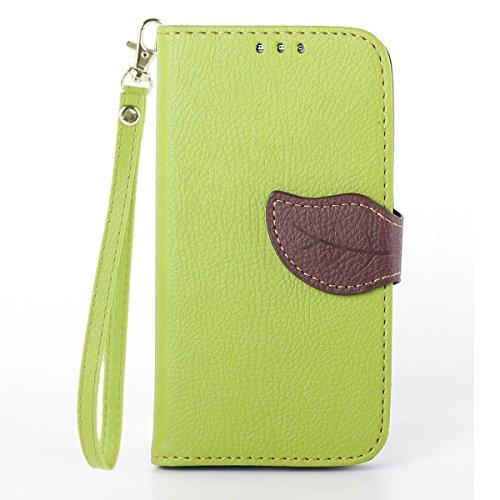MOONCASE Galaxy S4 Case Custodia in pelle Protettiva Portafoglio Flip Case Cover per Samsung Galaxy S4 I9500 Verde