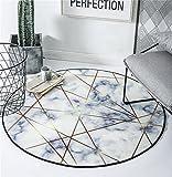 ZXH Runder Kuhfell-Teppich marmoriertes Schlafzimmer-Computer-Stuhl-Haus-kreativer Persönlichkeits-Wolldecke (Farbe : A, größe : 100cm)