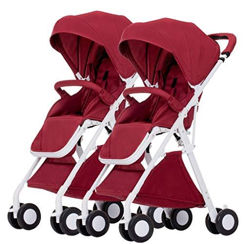 ZUCAI Kinderwagen - Twin Kinderwagen abnehmbar kann sitzen liegend Rückfahrlicht Falten zweites Kind Baby Auto Doppel-Kinderwagen für 0~3 Jahre altes Baby 5,1 kg leicht und leicht zu tragen