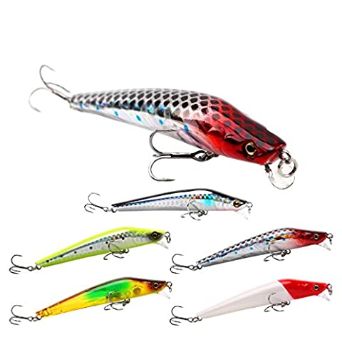SeaKnight Floating Minnow Top water Sea Fishing Lures For Bass, Pike