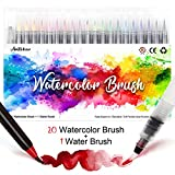 Amteker Brush Pen Set - 20+1 Handlettering Stifte Set, Manga Zeichnen Stifte,...