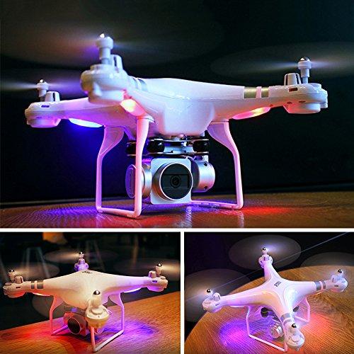 Cewaal wifi fpv versione sh5 drone con telecamera hd 720p, modalità senza testa quadcopter con motore brushless lungo tempo di volo drone per principianti