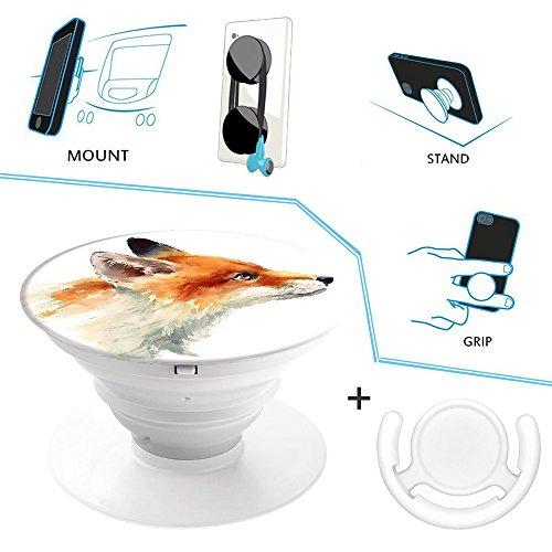 Ausziehbarer Handy Ständer und Handgriff und Handyhalter für Smartphones und Tablets, Multifunktion Universal Mount 2 in 1 (Billig Anzug Schwarzen)